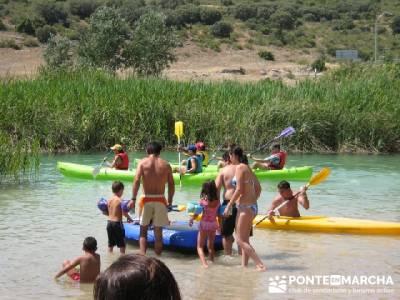 Baño en Lagunas de Ruidera; senderismo guadalajara